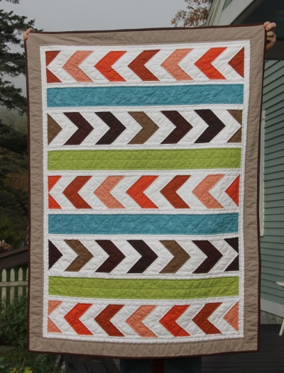Orange & Brown Chevrons