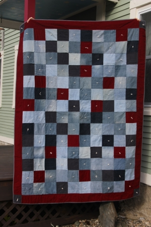 Red Jean Quilt