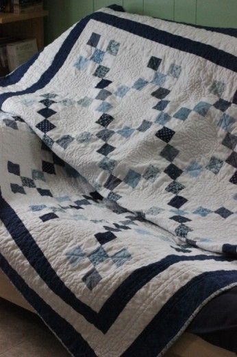 quilt on couch