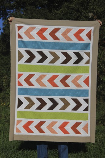 custom chevron quilt