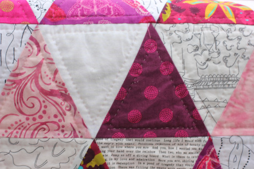 Pink Triangle Quilt